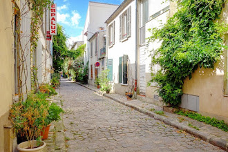 Paris : Rue des Thermopyles, promenade fleurie et souvenirs du village de Plaisance - XIVème