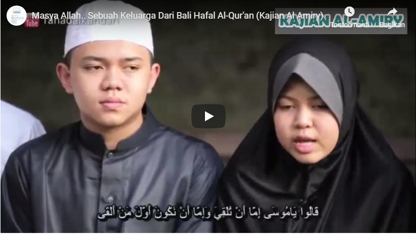 Luar Biasa, Satu Keluarga di Bali ini Hafal Al Quran, Lihat Videonya
