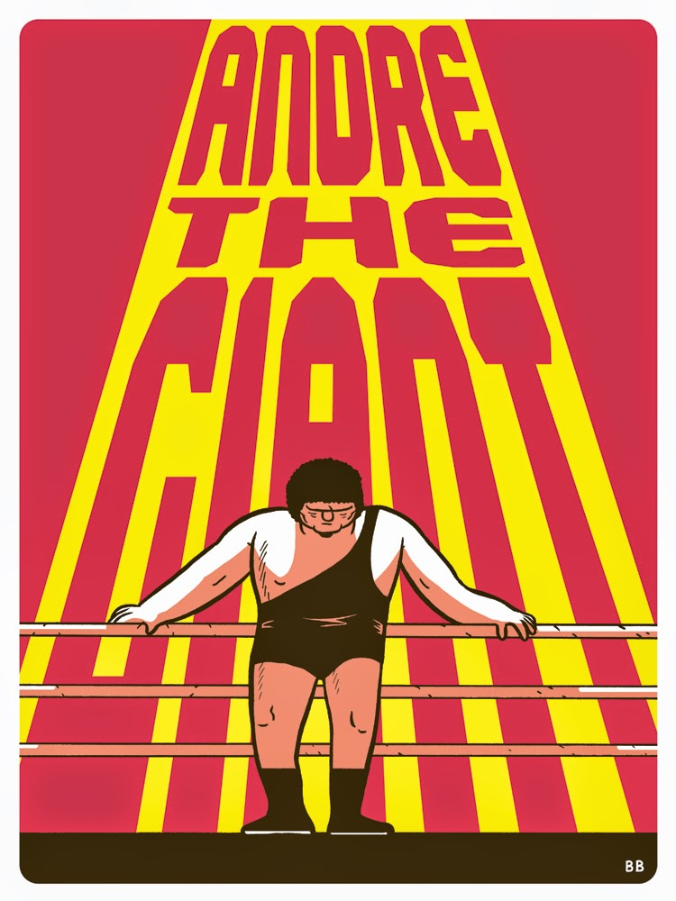 Andre the Giant Screen Print by Box Brown