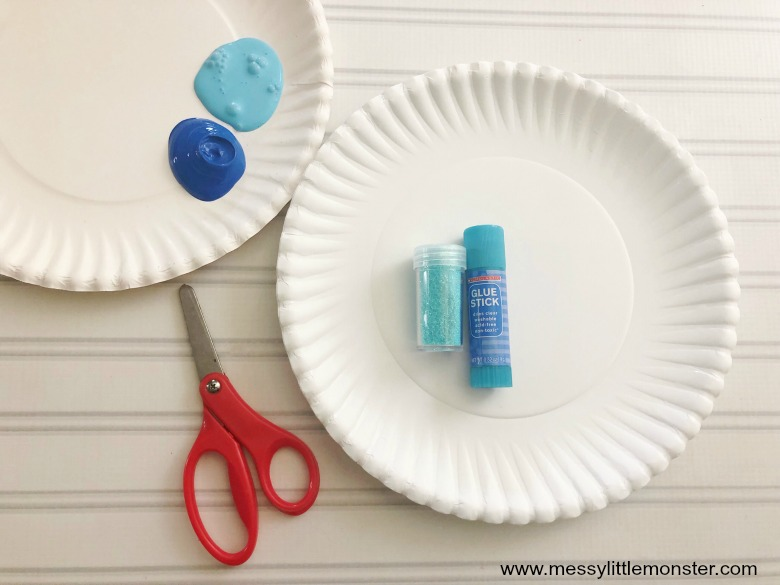 Paper Plate Snowflake Craft. Easy snowflake art for kids.
