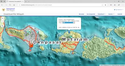 Unduh data wilayah Kab. Lombok Utara