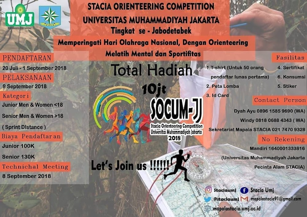 Stacia Orienteering Competition UMJ • 2018