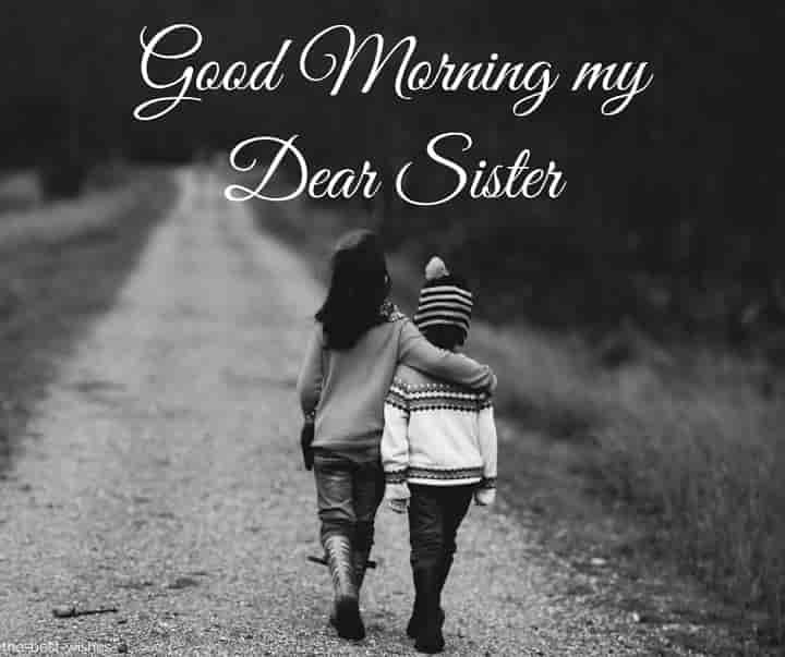 good morning baby sister
