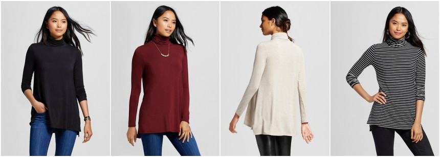 Mossimo Long Sleeve Turtleneck Tee $6 (reg $20)