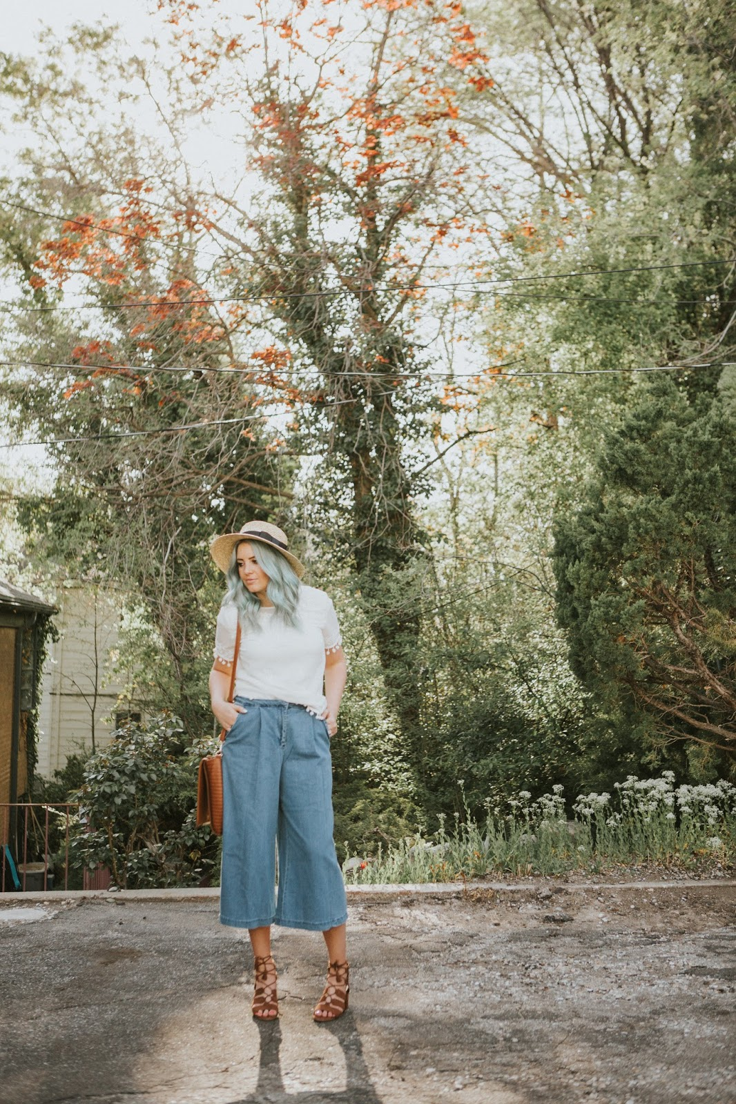 Spring Outfit, Culottes, Utah Fashion Blogger