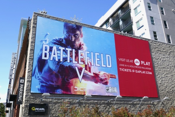 Battlefield V game billboard