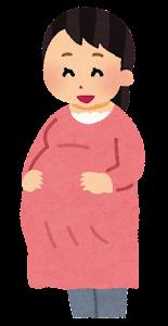 妊婦のお腹が大きくなる段階のイラスト4