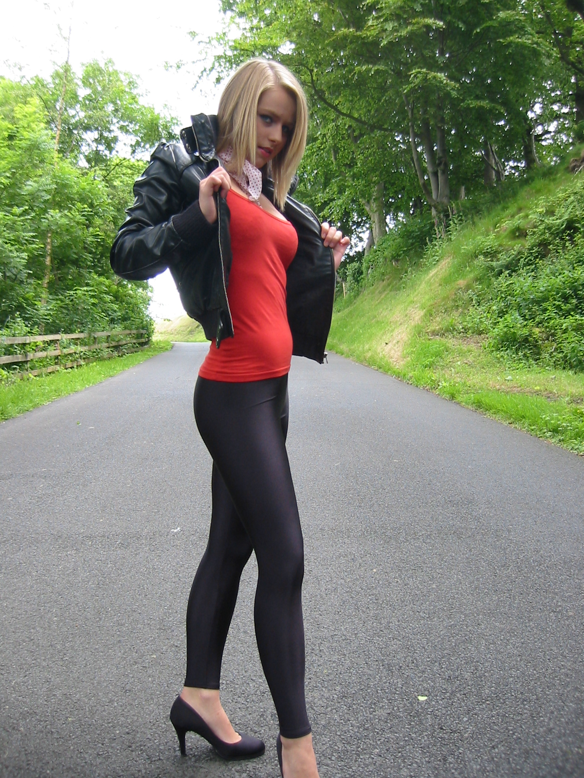 Hot girls with spandex
