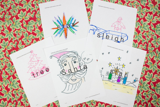 photograph relating to Free Printable Christmas Art identify Xmas Phrase Doodle Artwork Issues! (No cost Printable