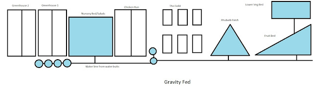 Gravity fed watering system