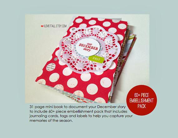 December Daily Christmas Album | iloveitall.etsy.com