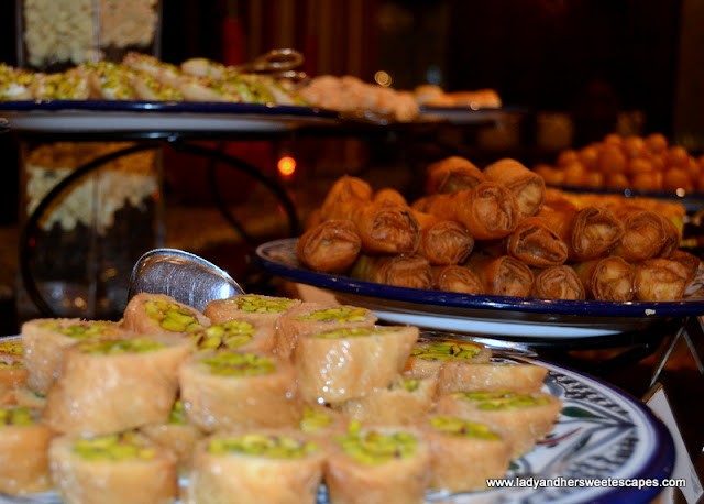 Arabic sweets at Dusit Thani