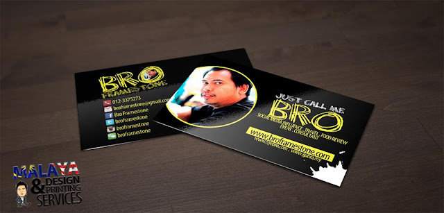Name Card Top Blogger Malaysia Bro Framestone