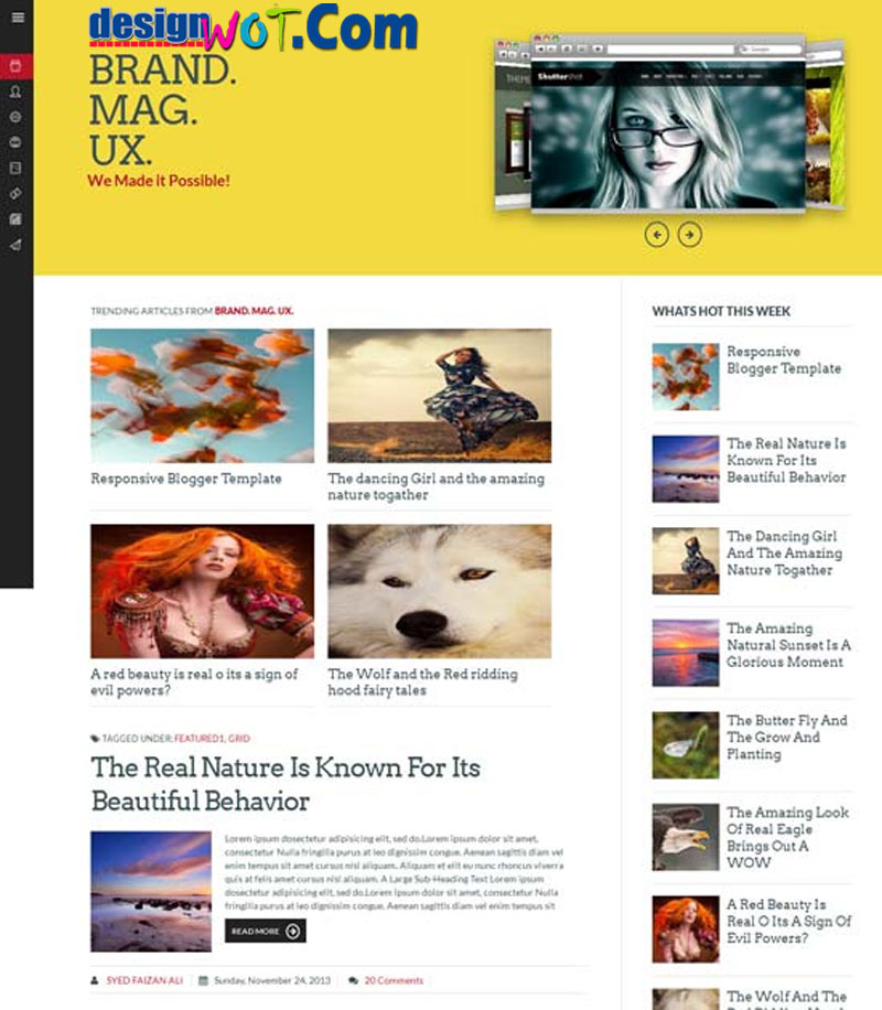 Brand Mag UX - Responsive Blogger Template