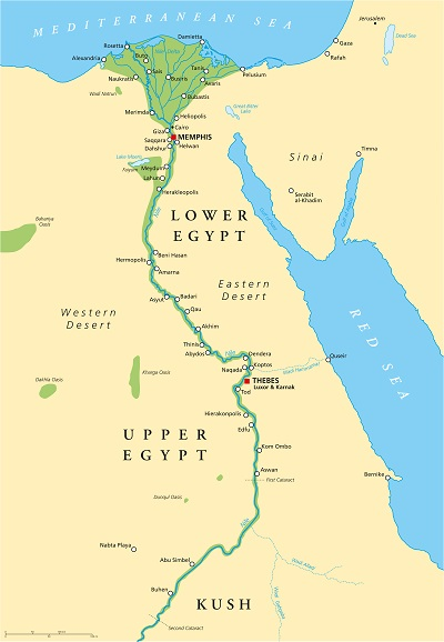 Map Of The Nile Delta | Egypt