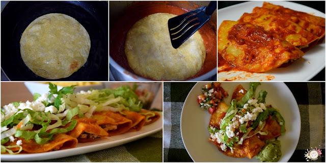 Enchiladas de pollo paso a paso
