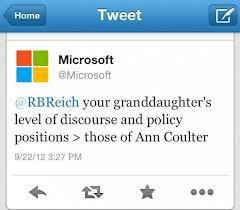 Fallo en el Tweet de Microsoft