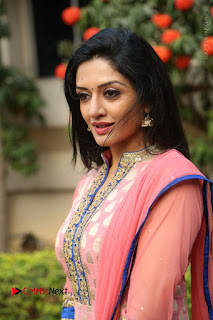 Actress Vimala Raman Stills in Beautiful Pink Salwar Kameez at (ONV) Om Namo Venkatesaya Press Meet  0172.JPG