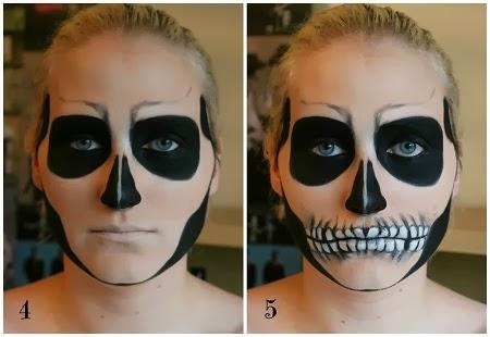 Muyvariadocom Caras Pintadas Para Halloween Diseno Calavera - Cara-pintada-para-halloween