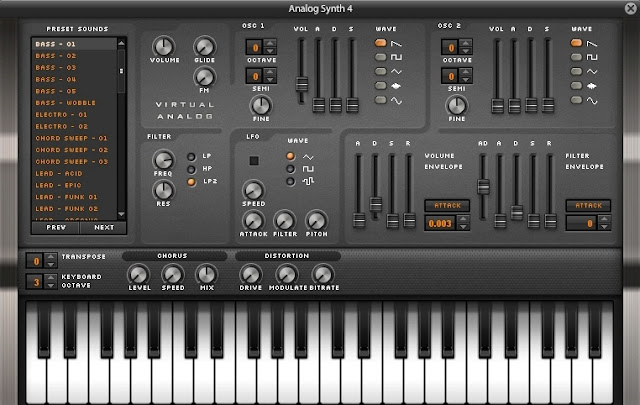 Sintetizador analógico de AudioSauna
