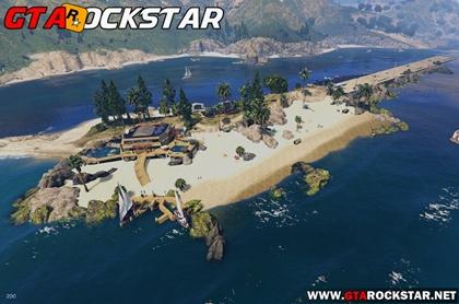 GTA V - Mod Ilha Paradise (Palomino Paradise Bay) for GTA V PC