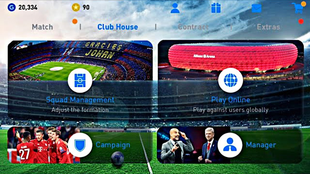 PES 2019 Mobile Android New Graphics Menu,Kits Update (Android/IOS)
