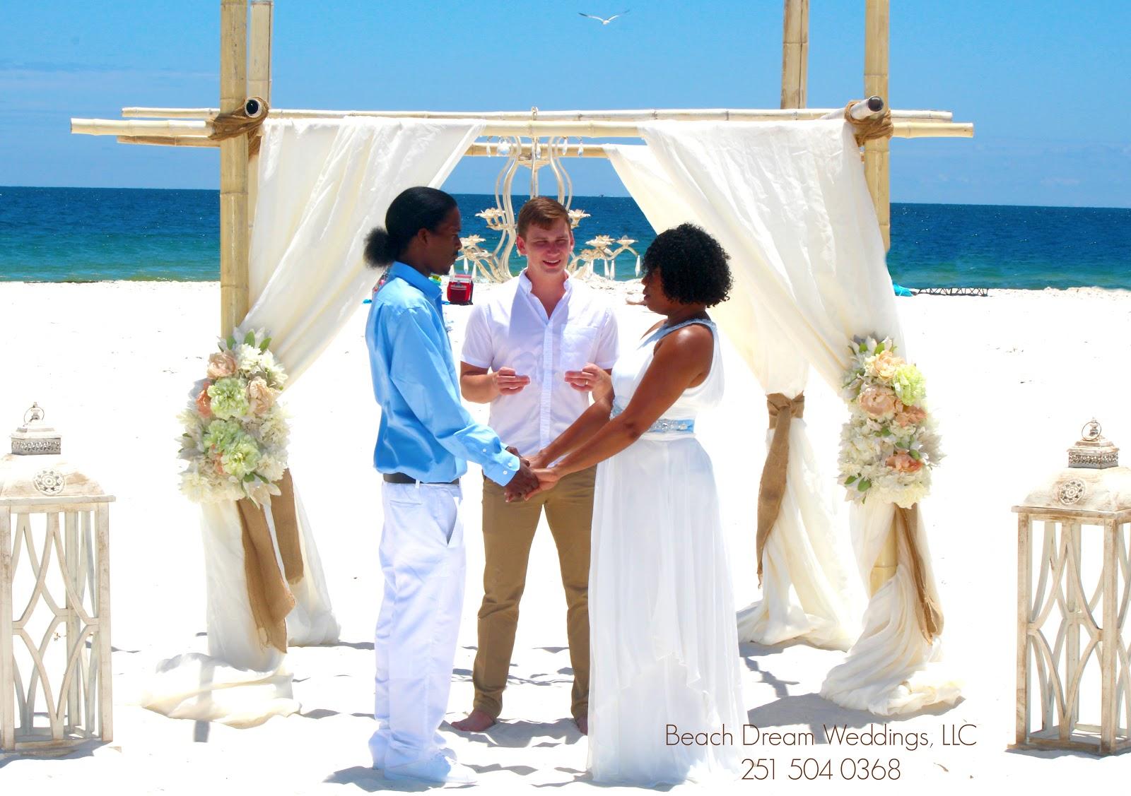 Beach Dream Wedding Of Timothy And Nikisha In Orange Alabama Weddings Llc 251 504 0368