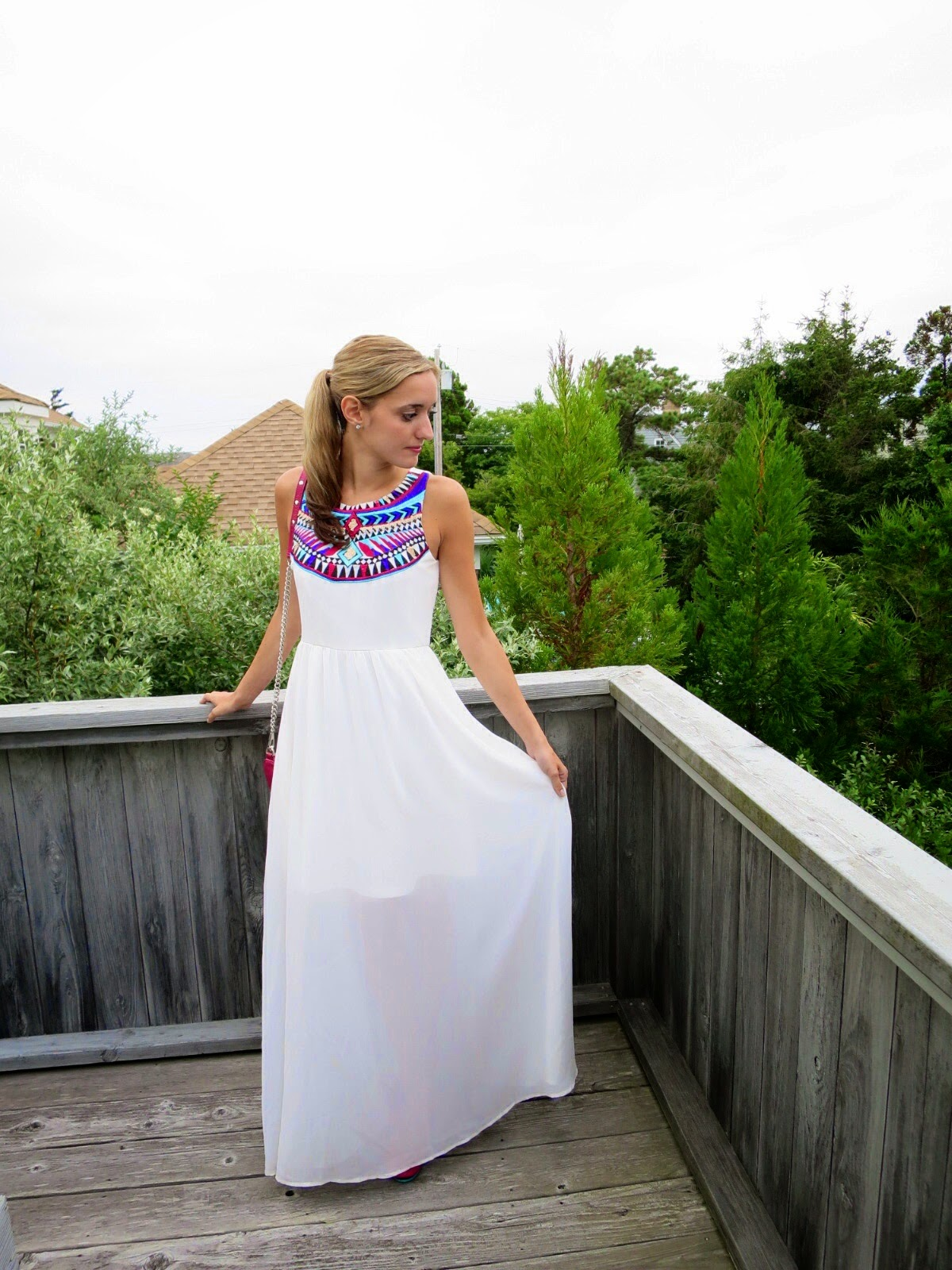francesca's white maxi dress
