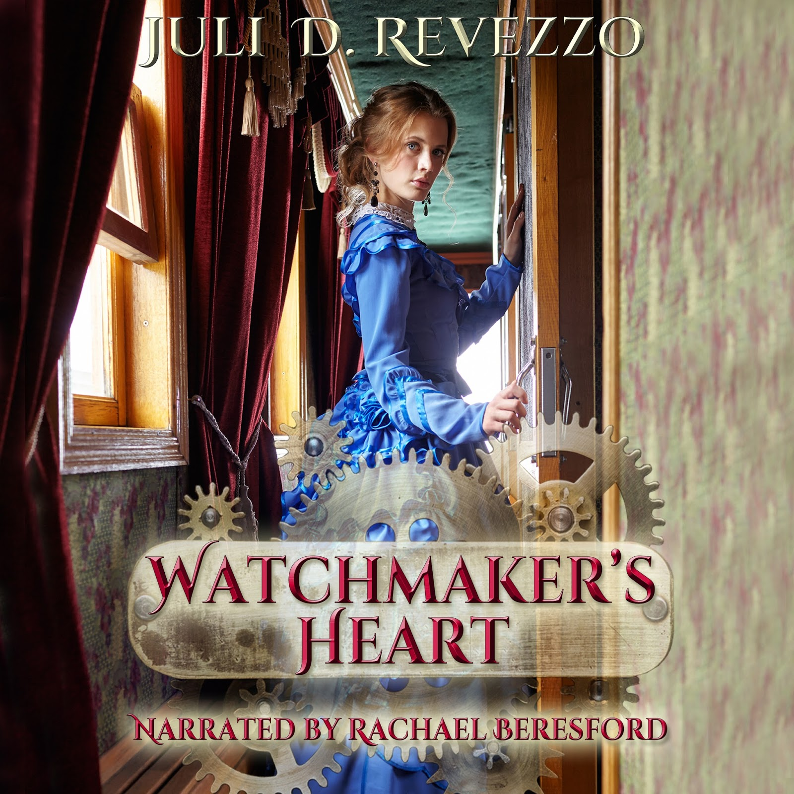 free with Audible trial, Watchmaker's Heart by Juli D. Revezzo, Steampunk romance, Victorian romance, audiobook