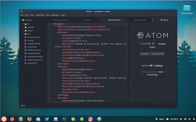 Teks-editor-atom