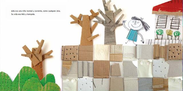 Una página interior del álbum ilustrado Vacío de Anna Llenas