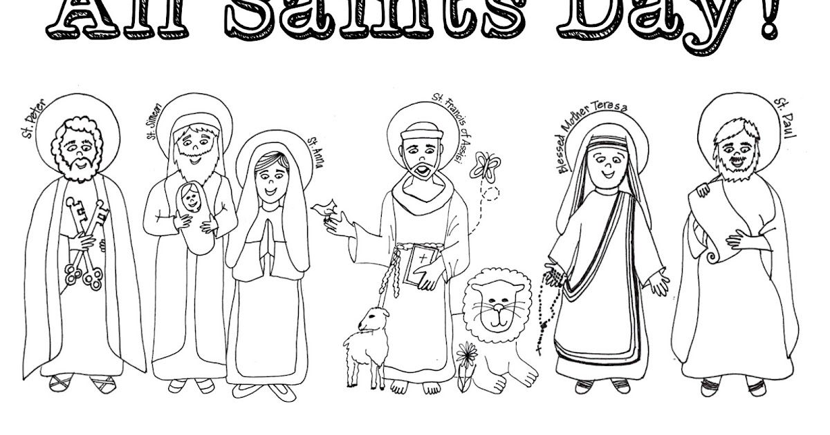 Catholic All Saints Day Pages Coloring Pages