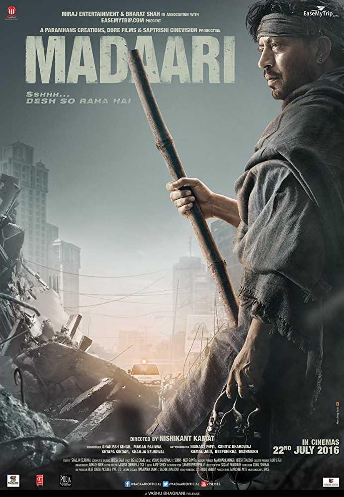 Poster Madaari (2016) Full HD Movie Dwownload 720p
