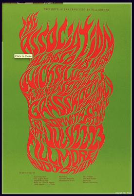 Cartel anunciador de concierto en el Filmore. Diseño de Wes Wilson.