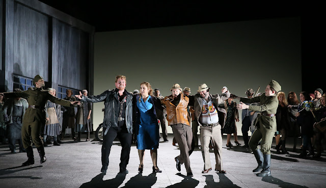 English National Opera - Jenufa - Laura Wilde, Nicky Spence and ENO Chorus - photo Donald Cooper