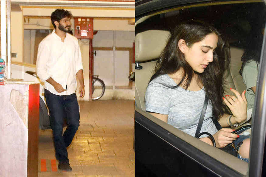 Harshvardhan Kapoor and Sara Ali Khan at Kareena Kapoor's Residence