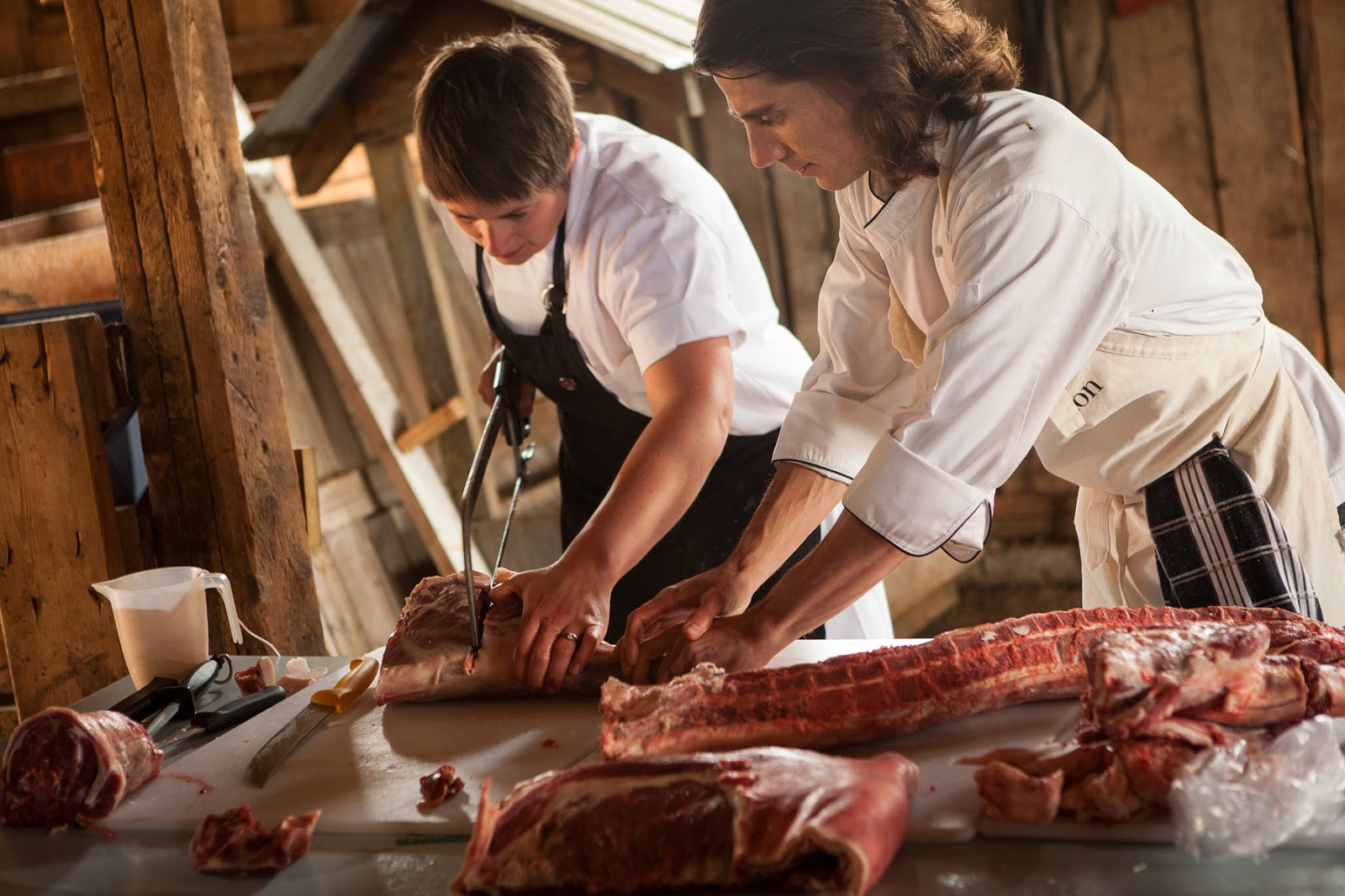 Lady Butcher At Work Warning Contains Butcher Images -6714