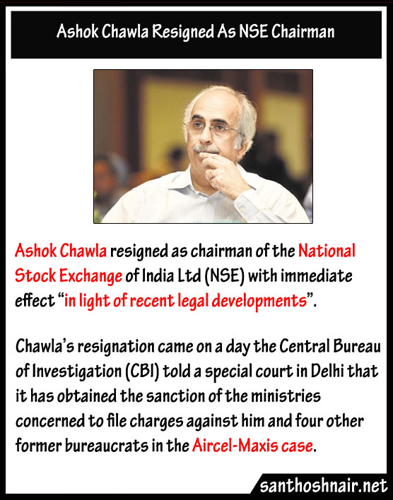 Ashok Chawla resigned as NSE chairman