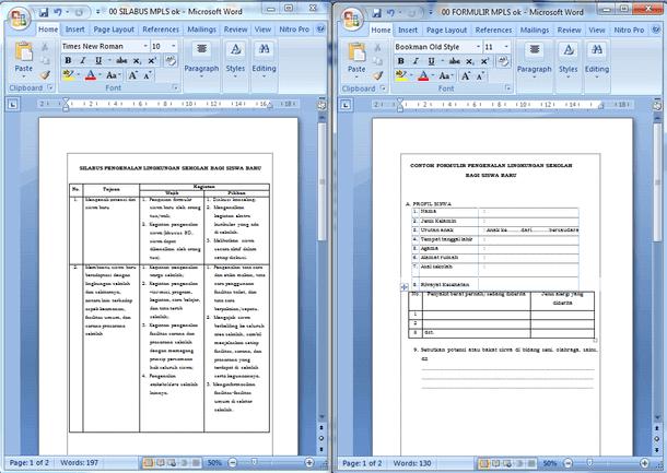Silabus Kegiatan dan Formulir MPLS (Pengenalan Lingkungan Sekolah) Bagi Siswa Baru