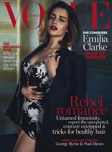 emilia clarke sexy vogue magazine australia cover models