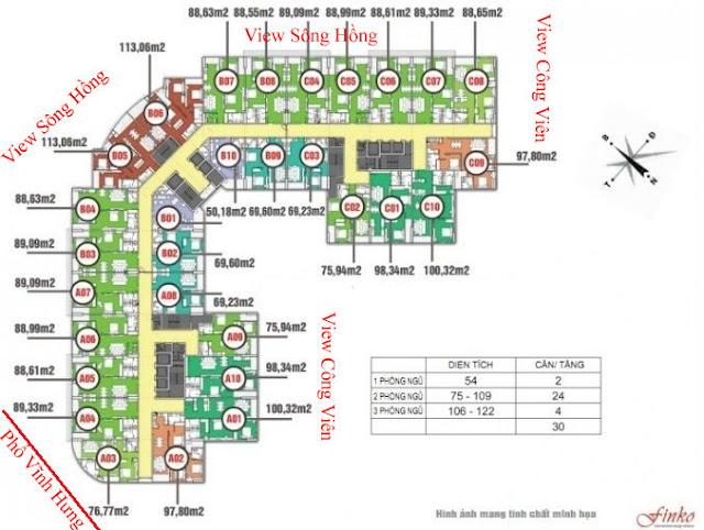 Mặt bằng thiết kế chung cư 440 Vĩnh Hưng