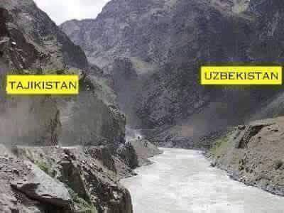 Tajikistan & Uzbekistan World's Amazing Border Lines