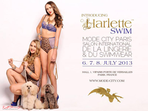 Harlette invitation to Mode City Paris - photographed by Kent Johnson.