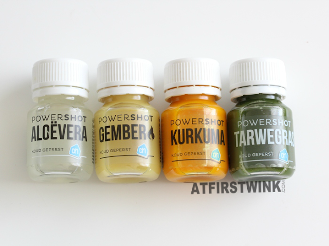 Review: Albert heijn to go powershots - Aloe vera, gember, kurkuma, tarwegras