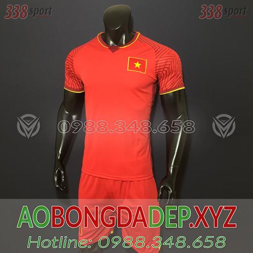 Áo U23 Việt Nam 2019 Sân Nhà Màu Đỏ Đẹp