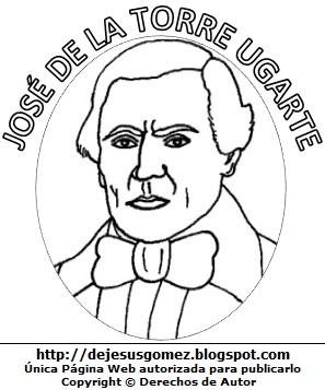 José de la Torre Ugarte para colorear pintar. Dibujo de José de la Torre Ugarte para niños. Dibujo de José de la Torre Ugarte hecho por Jesus Gómez