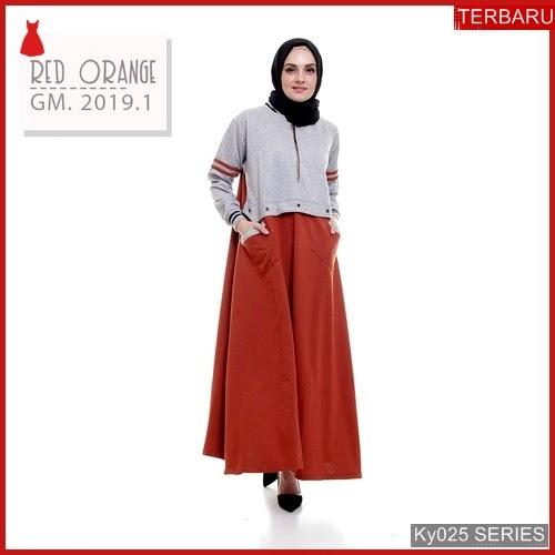 Ky025g68 Gamis Muslim Syarifah Murah Dress Bmgshop Terbaru