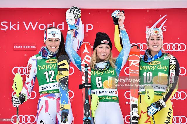 Mikaela Shiffrin Wins Crans Montana Slalom