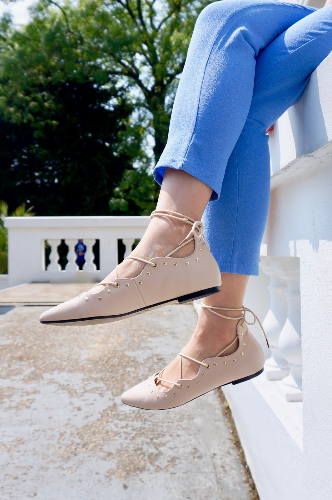 nine by savannah miller lace up flats