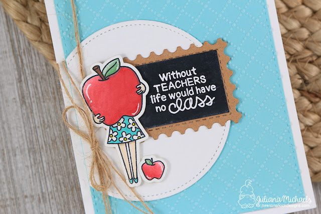 Teacher Appreciation Card by Juliana Michaels featuring Newton's Nook Designs Classy Teachers Stamp Set
